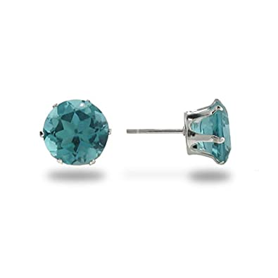aquamarine sterling jade products round earrings grande sparkle black light stud blue silver cz