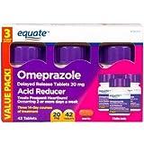 Equate Omeprazole Delayed Release Tablet 20Mg Acid ReducerNew Value Pack Size 84 Count