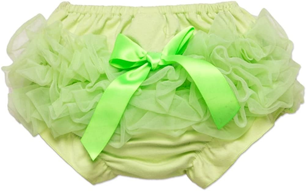 LOSORN ZPY Baby Girls Lace Ruffle Bloomers Newborn Bowknot Tutu Diaper Cover