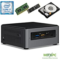 Intel BOXNUC7i7BNH Core i7-7567U NUC Mini PC w/ 16GB DDR4, 256GB NVMe M.2 SSD, 1 TB 2.5 HDD - Configured and Assembled by MITXPC