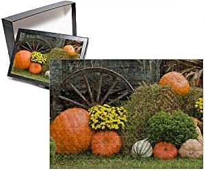 Photo Jigsaw Puzzle of USA, Tennessee, Townsend. Wooden wagon and Halloween display