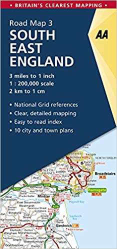 Road Map Britain 3 South East England 1: 250 000 Aa Road Map Britain ...