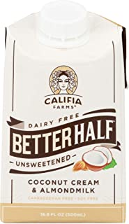 product image for Califia Farms (NOT A CASE) Better Half Unsweetened Coconut Cream & Almond Milk