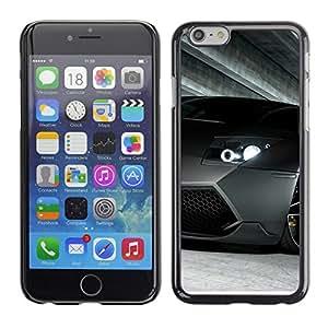 Lambo Murcielago coche - Metal de aluminio y de plástico duro Caja del teléfono - Negro - Apple (4.7 inches!!!) iPhone 6 / 6S