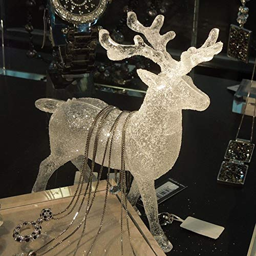 Gotian Transparent Acrylic Christmas Elk Ornaments Home Decorations 14x12cm from Gotian