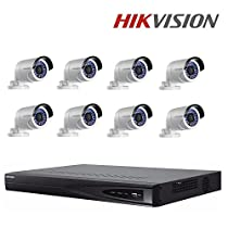 Hikvision DS-7608NI-E2/8P 8CH for HD IP Camera 6MP Recording 8POE 2 SATA Security Network Video Recorder + Hikvision 4MP IP Camera DS-2CD2042WD-I Bullet Camera + Seagate 4TB HDD (8 Channel + 8 Camera)