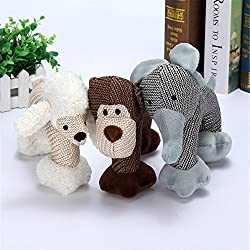 Dog Squeaky Toy, Durable Soft Funny Plush Dog Chew Toys for Medium and Large Dogs Teeth Cleaning and Playing (Sheep)