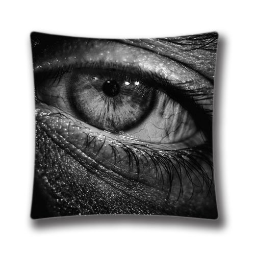 Slimmingpiggy Comfortable Bedding Black and white eyes 20X20 Inch Pillow Case
