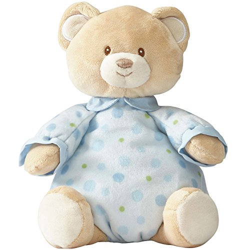 Beginnings by Enesco Plush Pajama Bear, 10.5 inches, Blue (Bear Christmas Teddy Dressed)