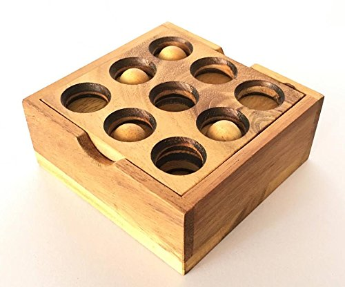 Handmade Golf Puzzle ( Gopher Holes ): Handmade & Organic 3D Brain Teaser, Wooden Puzzle for Adults & Children, By RATREE (Handmade Golf)