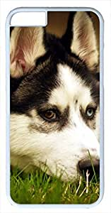 Animals Dog Siberian Husky Case for iPhone 6 Plus 5.5 inch PC Material White(Compatible with Verizon,AT&T,Sprint,T mobile,Unlocked,Internatinal) by mcsharks