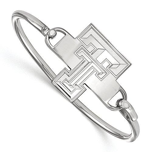 NCAA Sterling Silver Texas Tech University Bangle, 8 inch by LogoArt