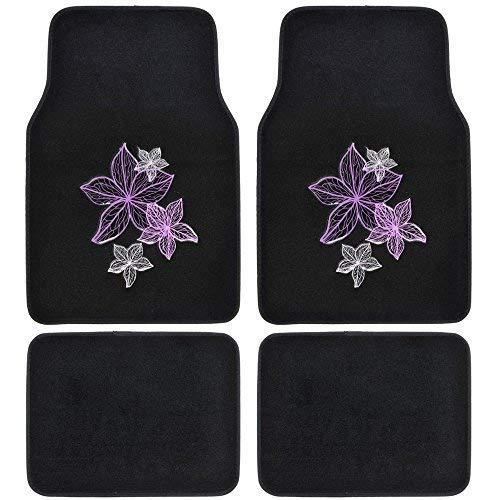 white and black car floor mats - 4