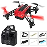 Beyondsky RC Drone with 720P HD Camera, Heliway Elfie Pocket WIFI FPV Mini Quadcopter RTF 2.4GHz 6-Axis Gyro with Headless Mode Wind Resistance Altitude Hold - Red