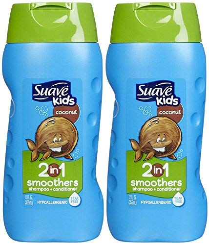 Suave Kids Shampoo and Conditioner Coconut 12 Ounce (2 Pack) (Suave Kids Hair Smoothers)
