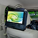 TFY Car Headrest Mount for Swivel & Flip DVD Player, Kids Security Hands-Free Headrest Travel Bracket Stand for Road Trip - Provide Entertainment for Kids and Back Seat Passengers -9 Inch