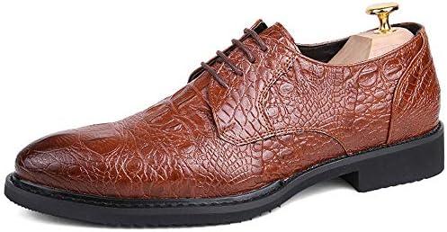 靴メンズファッションオックスフォードカジュアル尖った快適な人格ワニ柄ステッチアウトソールフォーマルシューズ