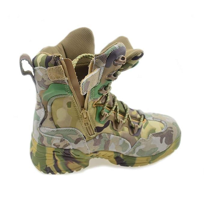 QIKAI Stivali Militari Scarpe Da Trekking Estive Da Uomo d354797849a