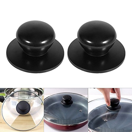 obs Cooker Pan Pot Kettle Cover Handle Knob Kitchen Universal Casserole Glass Lid Pot Knob Cookwares Replacement (Black) (Rival Slow Cooker Parts)
