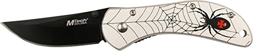 Master Cutlery M-Tech Spider, Silver Aluminum Handle, Plain