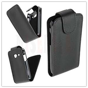 Funda Cuero Piel Negra Samsung Galaxy Y S5360 color Negro Black