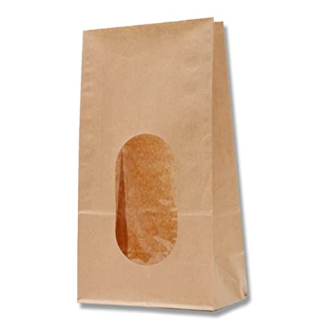 Heiko Heiko bolsa de papel con una ventana de papel Kraft ...