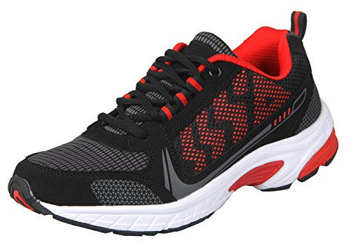 iLoveSIA Delocrd Zapatillas de running multiuso Black+Red New Design