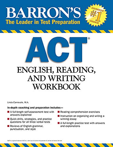 Barron's ACT English, Reading and Writing Workbook