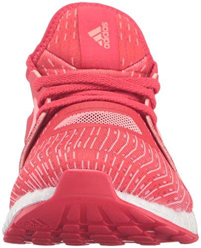 Adidas Performance Pure Boost X Running Shoe,black/shock Green/black,5.5 M Us Ray Red/Vapor Pink/White