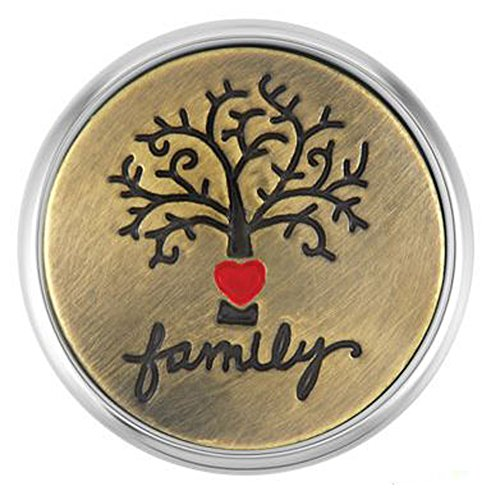 Price comparison product image Ginger Snaps ETCHED FAMILY TREE SN02-17 (Standard Size) Interchangeable Jewelry