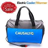 Causalyg 12 Volt DC Soft Electric Car Cooler/Warmer Bag, Portable Car Refrigerator/Fridge with...