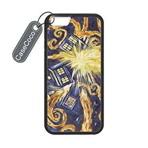 CASECOCO(TM) Favorite TV Series Doctor Who iPhone 6 Case - Protective Hard Back / Black Rubber Sides Case for iPhone 6 (4.7-inch) hjbrhga1544