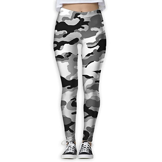 1b9c1ccab1 Doppyee Army Black Camouflage Printing Compression Leggings Pants Tights  For Women S-XL at Amazon Women's Clothing store: