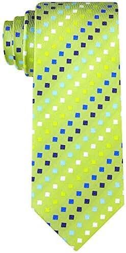 Scott Allan Mens Geometric Necktie - Green