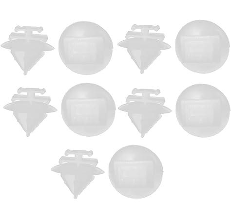 10x Peugeot Plastic Rivet Clips Bumper Grille Trim clips Fasteners for Bonnet
