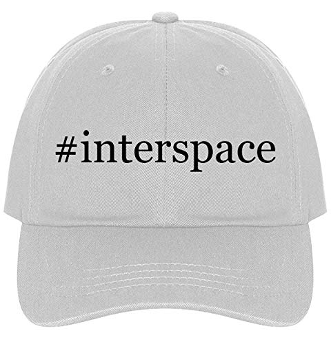 - The Town Butler #Interspace - A Nice Comfortable Adjustable Hashtag Dad Hat Cap, White, One Size