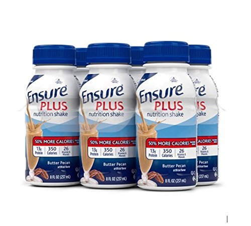 Ensure Plus Nutrition Shake, Butter Pecan, 8-Ounce Bottle, 6 Count by Ensure ()