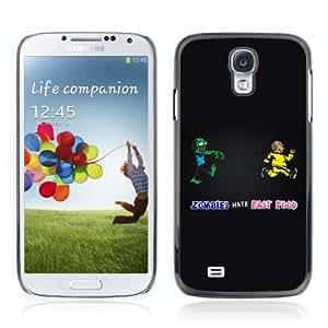 CQ Tech Phone Accessory: Carcasa Trasera Rigida Aluminio Para Samsung Galaxy S4 i9500 - Zombies Hate Fast Food