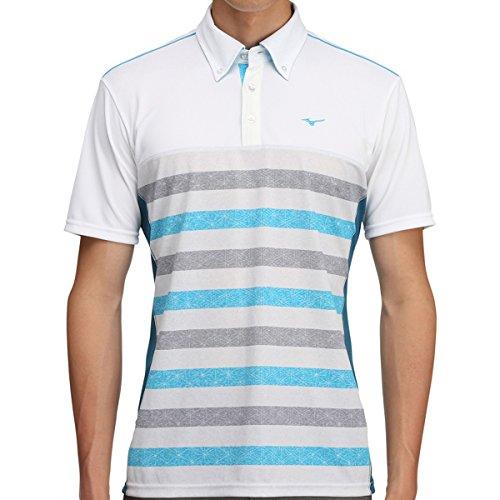 [ミズノ] メンズ ゴルフ MG 半袖シャツ ソーラーカット ボディーマッピング ブルー 52MA700524