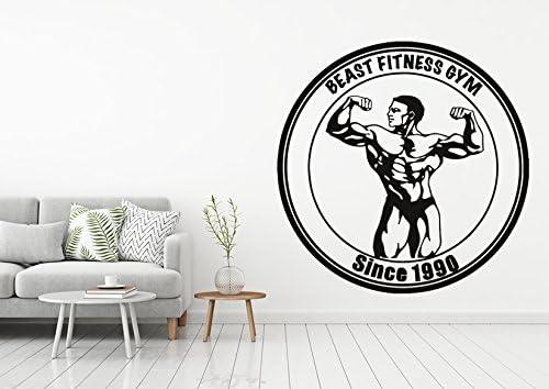 Gym Sticker Motivation Gym Wall Sticker Crossfit Workout Vinyl Decal Fitness Hot