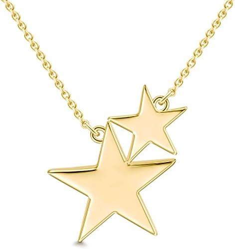 Verde Azulado /& Blanco Cristal Collar Colgante Plata De Diseño Estrellas Nuevo En Bolsa De Regalo