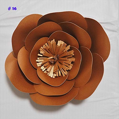 ShineBear Giant Paper Flowers Artificial Rose DIY Large Paper Rose Wedding & Event Backdrop Baby Nursery with Video tutorials 1 Piece - (Color: Glittered Bronze, Size: 40CM)
