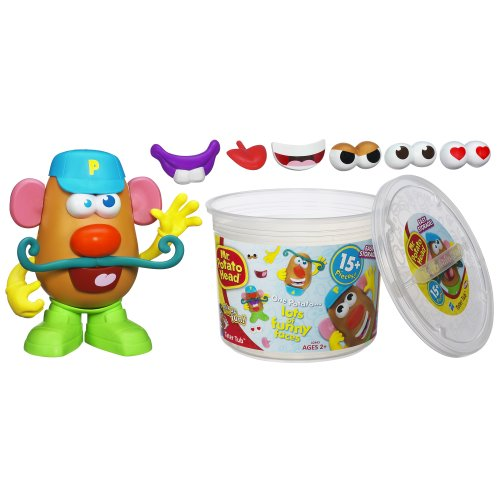 Playskool Mr. Potato Head Tater Tub Set Parts and Pieces Container Toddler Toy for -