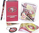 SAN Francisco 49ers Gift Box Set, Includes Playing Cards, memo pad, Pen, Key Ring, and Magnet.