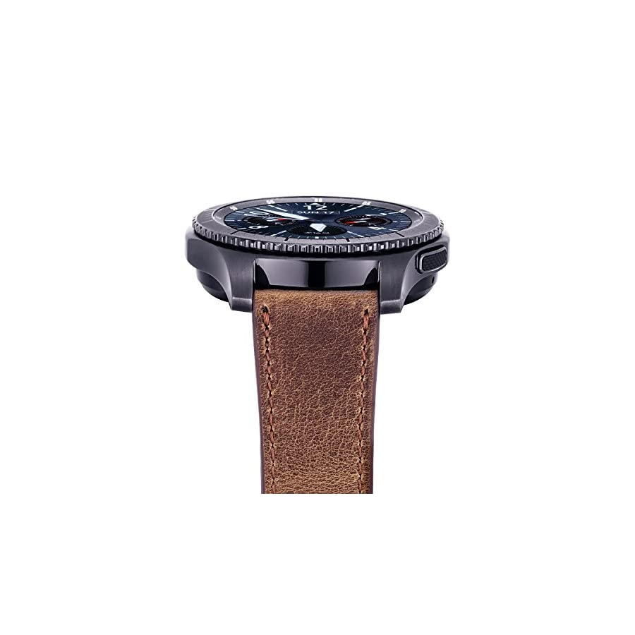 iBazal Gear S3 22mm Watch Band, Genuien Leather Band 22mm for Samsung Gear S3 Frontier/Classic