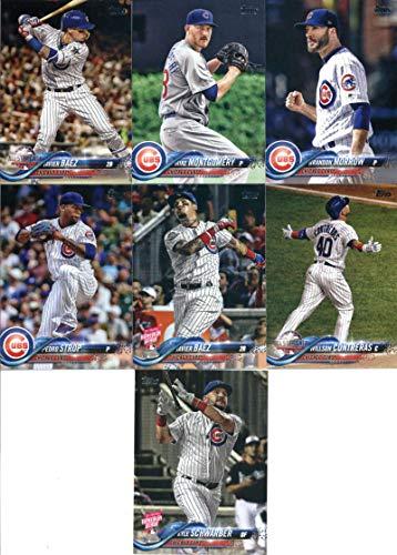2018 Topps Update Series Baseball Chicago Cubs Team Set of 13 Cards: Tyler Chatwood(#US22), Jon Lester(#US30), Cole Hamels(#US32), Javier Baez(#US37), Pedro Strop(#US41), Kyle Schwarber(#US59), Willson Contreras(#US94), Javier Baez(#US119), Steve Cishek(#US152), Mike Montgomery(#US190), Brandon Morrow(#US211), Taylor Davis(#US229), David Bote(#US273)