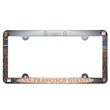 Amazon.com : MLB San Francisco Giants Full Color License Plate Frame ...