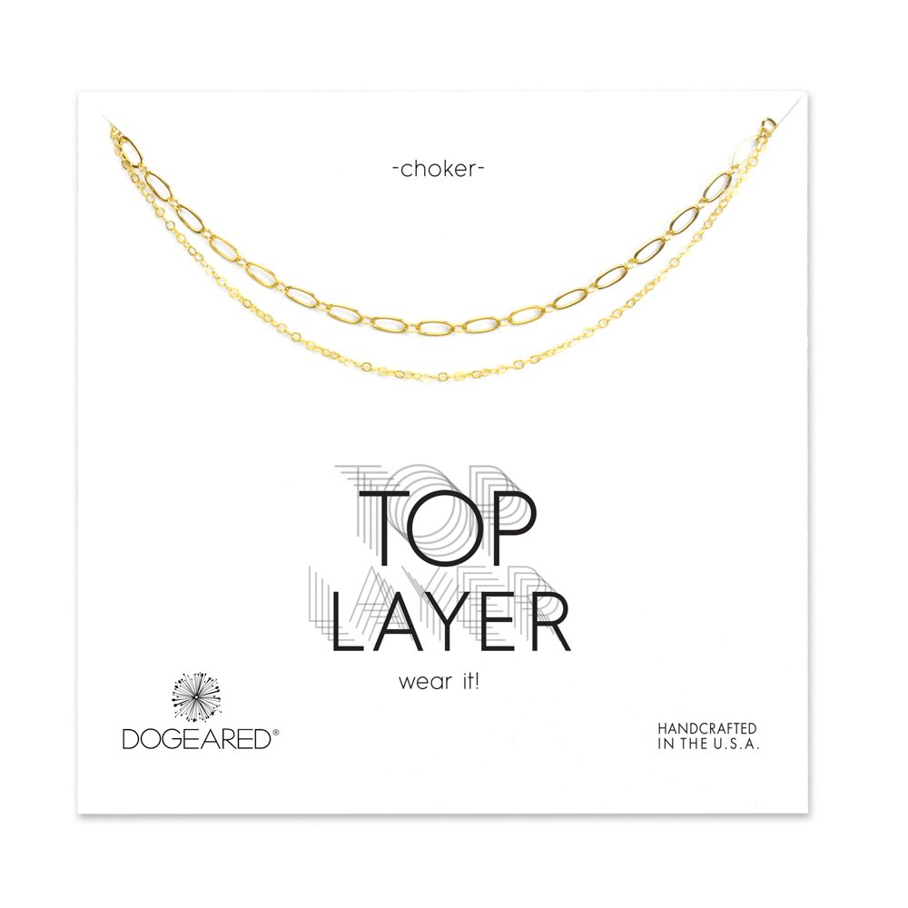 Dogeared 2-Chain Gold Choker Necklace
