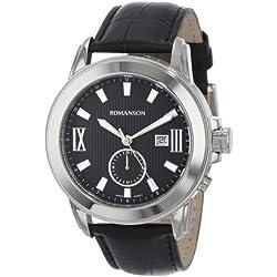 Romanson Men's TL0381MM1WA32W Modern Swiss Quartz Date Function Dual Time Luminous Hands and Markers Watch