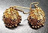 Sansar India Oxidized Small Lightweight Jhumka Indian Earrings Jewelry for Girls and Women 1398